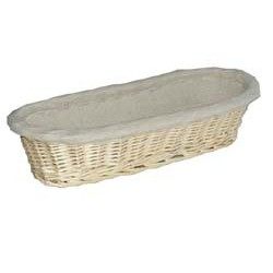 wicker long bread basket