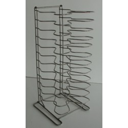 Metal rack for pizza trays