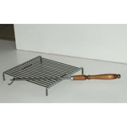 Steel meat grill