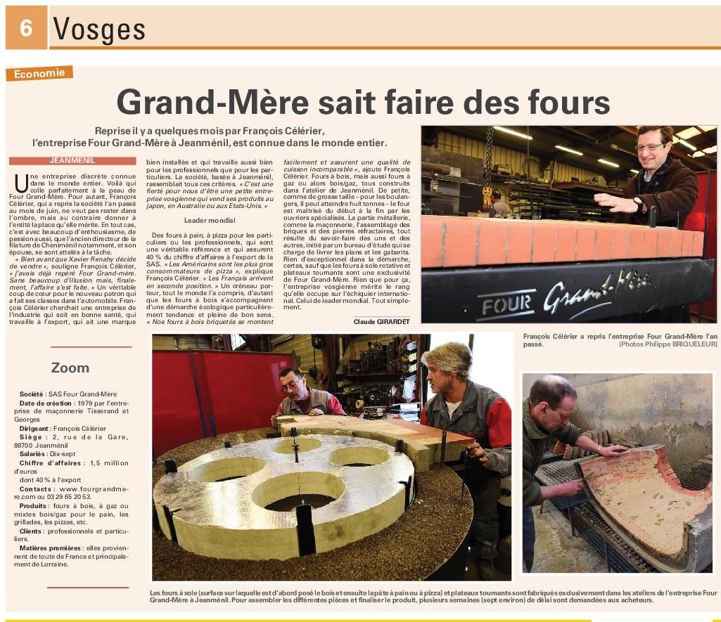 Four Grand Mère Vosges Matin2015