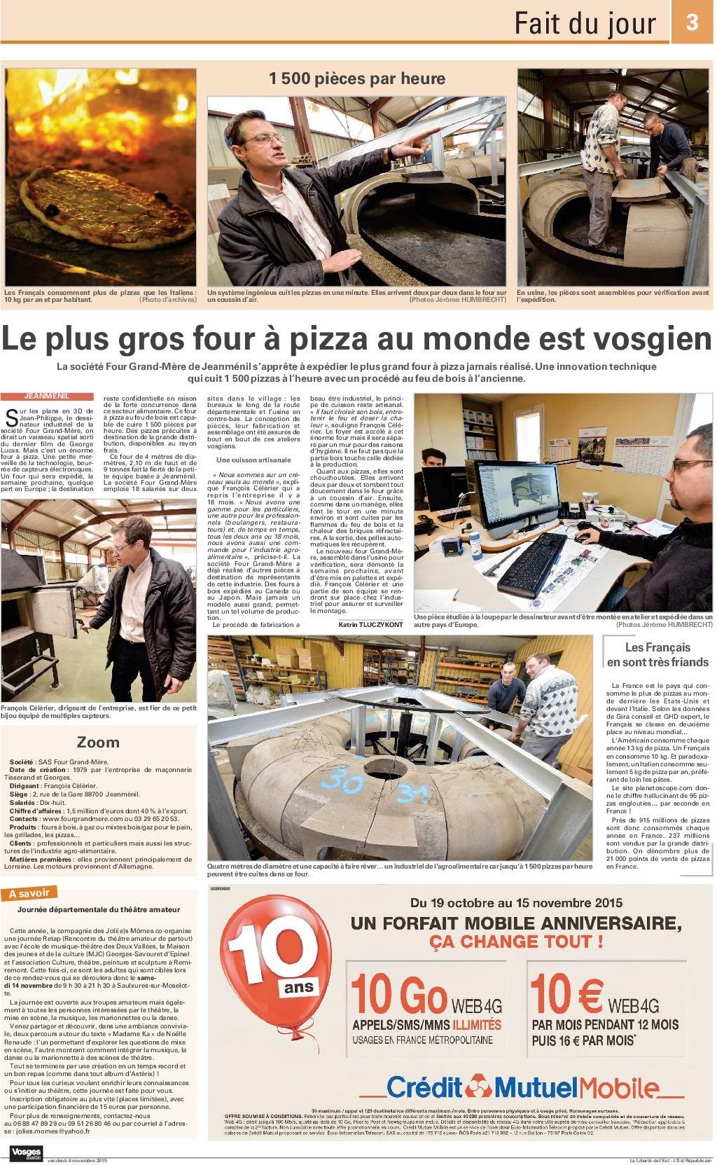 Four Grand Mère Vosges Matin 06/2015